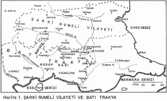 1913 Bati Trakya Turk Cumhuriyeti