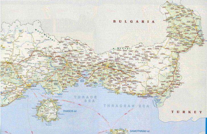 Batı Trakya Haritası
